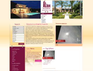 luxbulgarianproperties.net screenshot