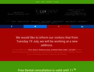 luxdent.ie screenshot