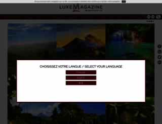 luxe-magazine.com screenshot