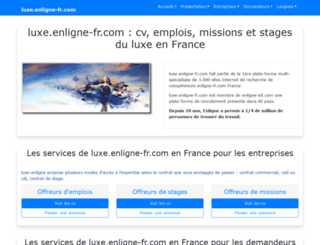 luxe.enligne-fr.com screenshot