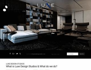 luxedesignstudios.com screenshot