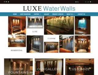 luxewaterwalls.com screenshot