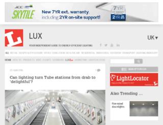 luxmagazine.co.uk screenshot