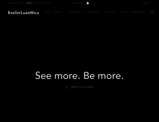 luxottica.com screenshot