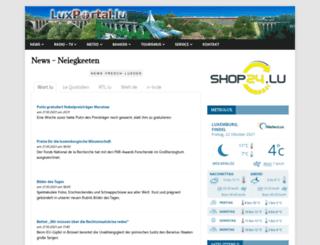 luxportal.lu screenshot