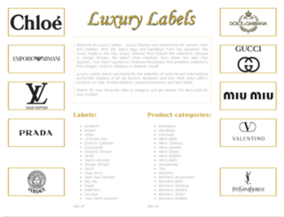 luxury-labels.com screenshot