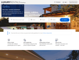 luxury.homeaway.com screenshot