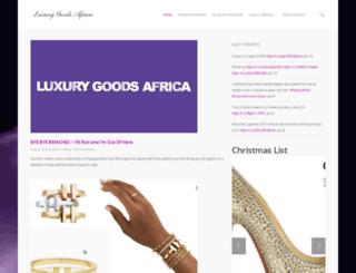 luxurygoodsafrica.com screenshot