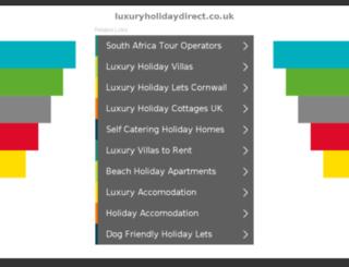 luxuryholidaydirect.co.uk screenshot