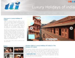 luxuryholidaysofindia.com screenshot