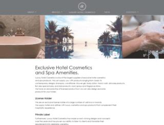 luxuryhotelcosmetics.com screenshot