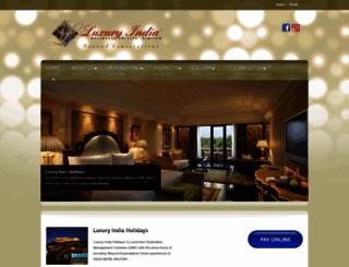 luxuryindiaholidays.com screenshot