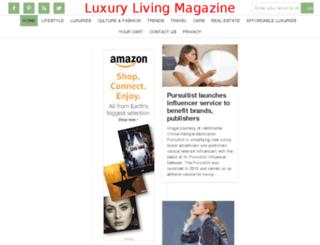 luxurylivingmagazine.org screenshot