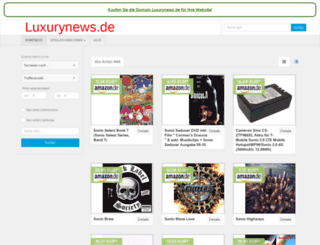 luxurynews.de screenshot