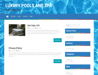 luxurypoolsandspa.com screenshot
