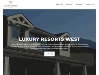 luxuryresortswest.com screenshot