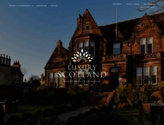 luxuryscotland.co.uk screenshot