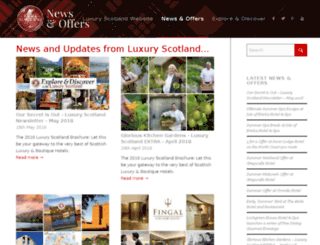 luxuryscotlandblog.co.uk screenshot