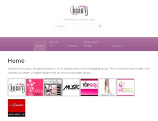 luxuryshoppingnetwork.co.uk screenshot