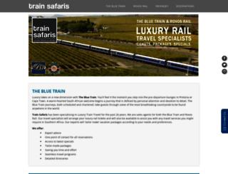 luxurytrains.co.za screenshot