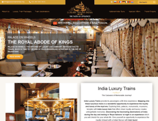 luxurytrainsindia.org screenshot