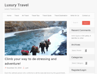 luxurytravelfundraiser.com screenshot