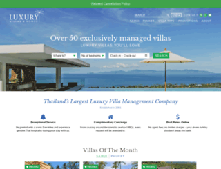 luxuryvillasandhomes.com screenshot