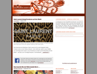 luxusblogger.de screenshot