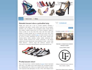 luxusniobuv.webnode.cz screenshot