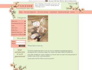 luzier.com screenshot