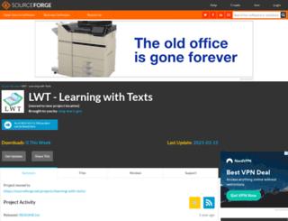 lwt.sourceforge.net screenshot