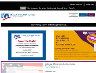 lwvaustin.org screenshot