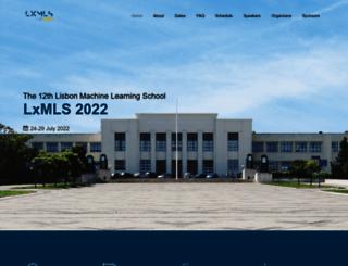 lxmls.it.pt screenshot