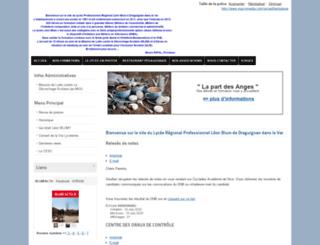 lyc-leon-blum.ac-nice.fr screenshot