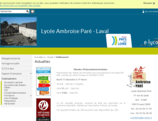 lyc-pare-53.ac-nantes.fr screenshot
