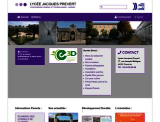 lyc-prevert-44.ac-nantes.fr screenshot
