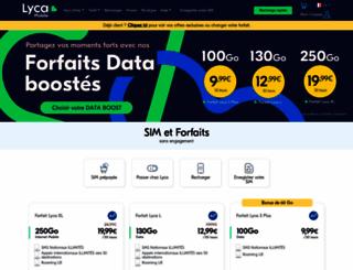 lycamobile.fr screenshot