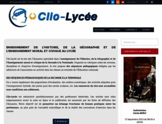 lycee.clionautes.org screenshot
