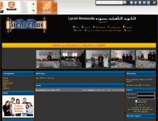lyceebensouda.xooit.com screenshot