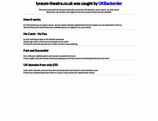 lyceum-theatre.co.uk screenshot
