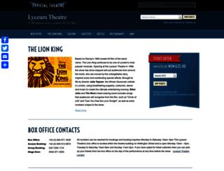 lyceumtheatrelondon.org screenshot