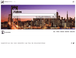 lycos.co.uk screenshot