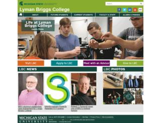 lymanbriggs.msu.edu screenshot