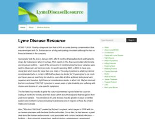 lymediseaseresource.com screenshot