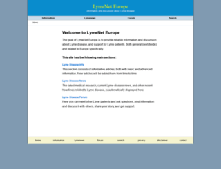 lymeneteurope.org screenshot