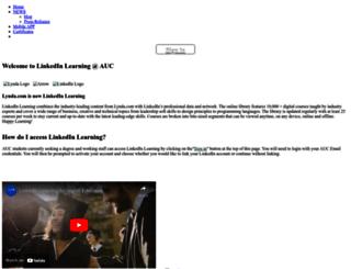 lynda.aucegypt.edu screenshot