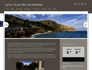 lyntonhousehotel.co.uk screenshot