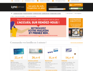 lynx-optique.fr screenshot