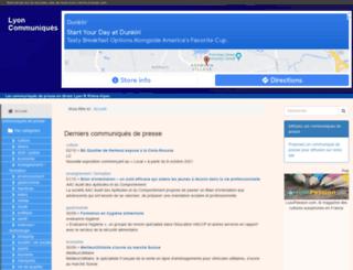 lyon-communiques.com screenshot
