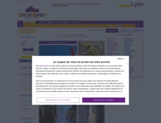 lyon.onvasortir.com screenshot